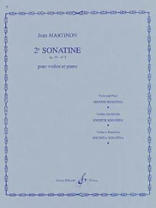Sonatine n° 2, op. 19 n° 2 - Jean Martinon - laflutedepan.com