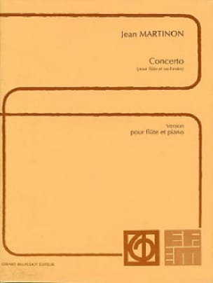 Concerto - Flûte piano - Jean Martinon - Partition - laflutedepan.com