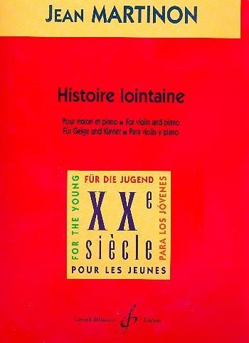 Histoire lointaine - Jean Martinon - Partition - laflutedepan.com