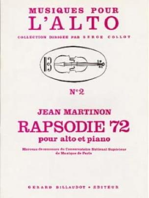 Rapsodie 72 - Jean Martinon - Partition - Alto - laflutedepan.com