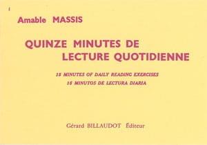 15 Minutes de lecture quotidienne - Amable Massis - laflutedepan.com