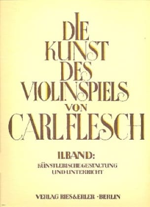 Carl Flesch - Die Kunst des Violinspiels - Bd. 2 - Partition - di-arezzo.co.uk