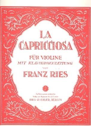 Franz Ries - Capricciosa - Partition - di-arezzo.co.uk