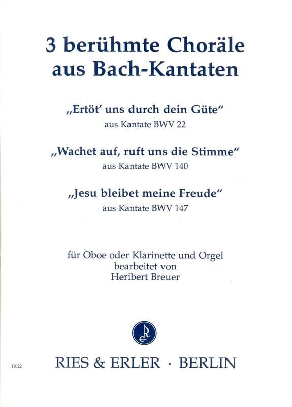 3 Choräle - BACH - Partition - Hautbois - laflutedepan.com