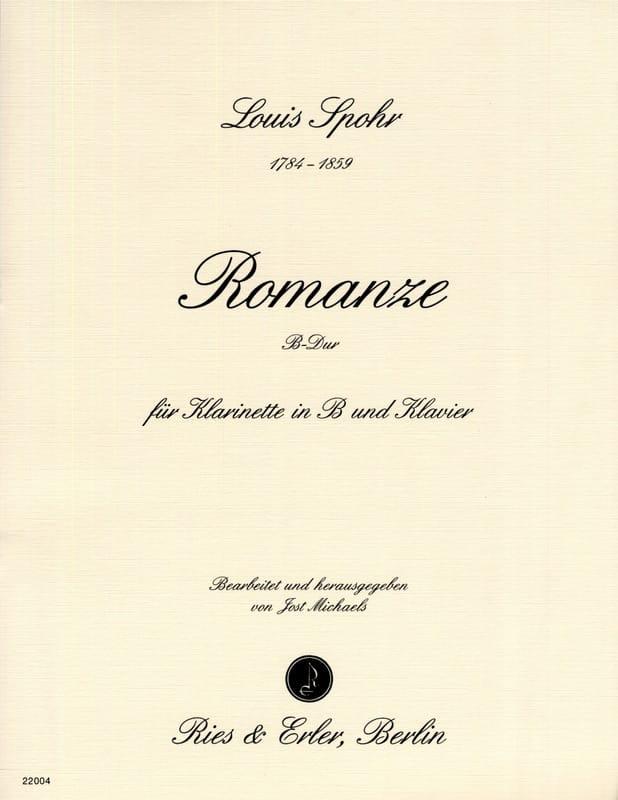 Louis Spohr - Romanze B-Dur - Klarinette Klavier - Partition - di-arezzo.co.uk