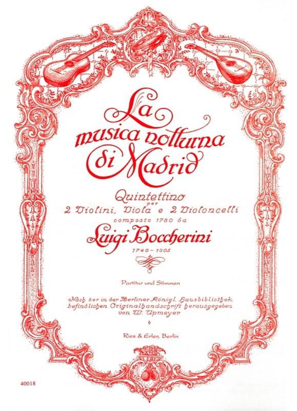 La Musica Notturna Di Madrid -partitur + Stimmen - laflutedepan.com