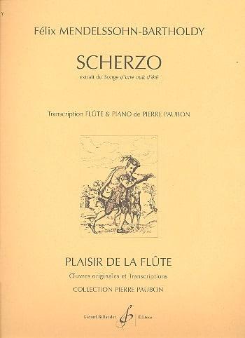 MENDELSSOHN - Scherzo extr. Dream of a summer night - Piano flute - Partition - di-arezzo.co.uk