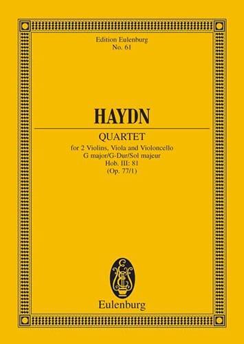 Streich-Quartett G-Dur op. 77 n° 1 - HAYDN - laflutedepan.com