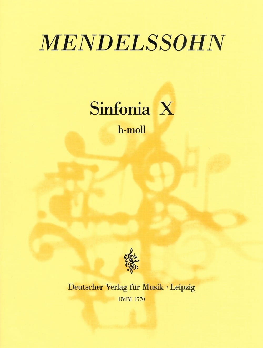 MENDELSSOHN - Sinfonia Nr. 10 h-moll - Partitur - Partition - di-arezzo.fr