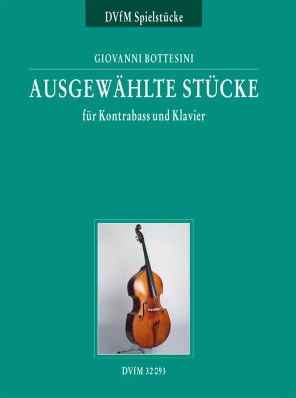 Giovanni Bottesini - Ausgewählte Stücke für Kontrabass und Klavier - Partition - di-arezzo.co.uk