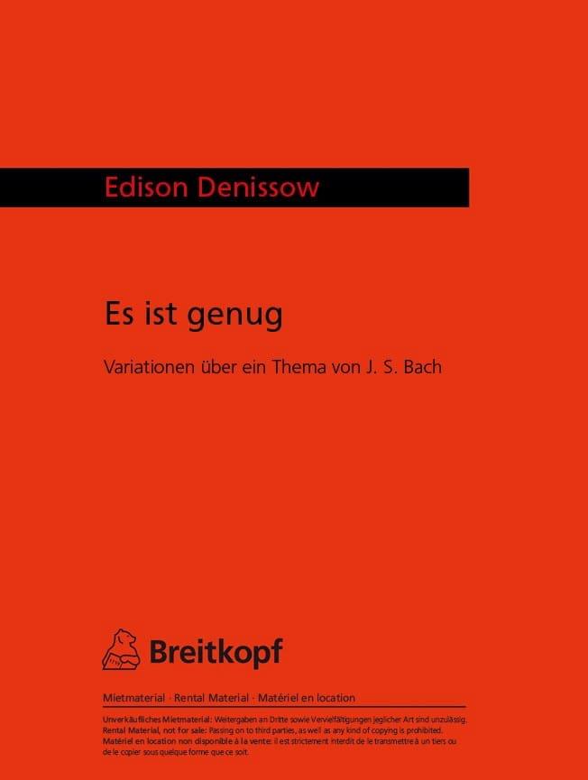 Es ist genug - Edison Denisov - Partition - Alto - laflutedepan.com