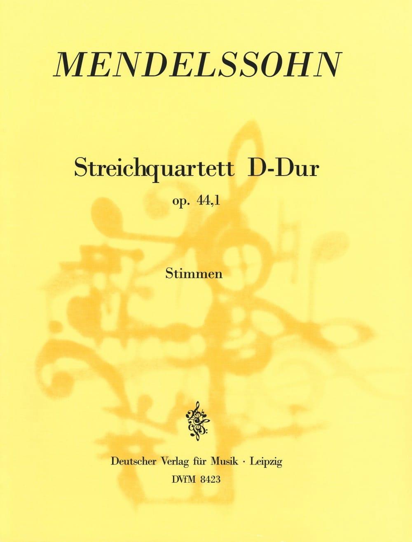 MENDELSSOHN - Streichquartett D-Dur op. 44 n ° 1 - Stimmen - Partition - di-arezzo.co.uk