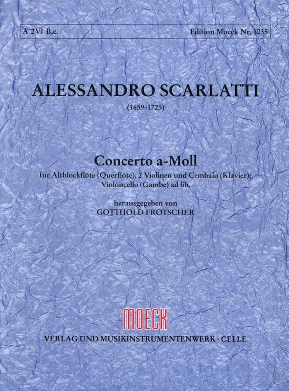 Concerto a-moll - Flauto dolce 2 violoni e bc - Partitur + Stimmen - laflutedepan.com