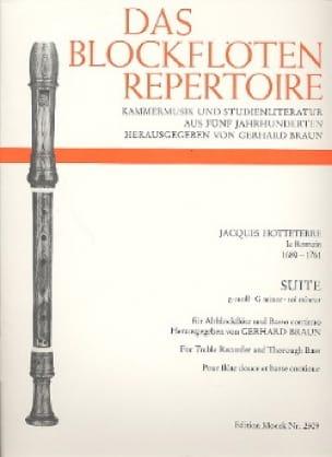 Jacques (Le Romain) Hotteterre - Suite G-Moll Sol Min. - Flute A Beak Alto and Bc - Partition - di-arezzo.co.uk