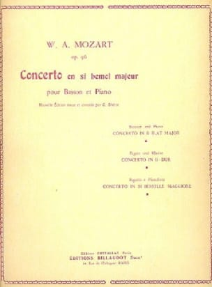 MOZART - Bassoon Concerto in B major Op. 96 - Partition - di-arezzo.com