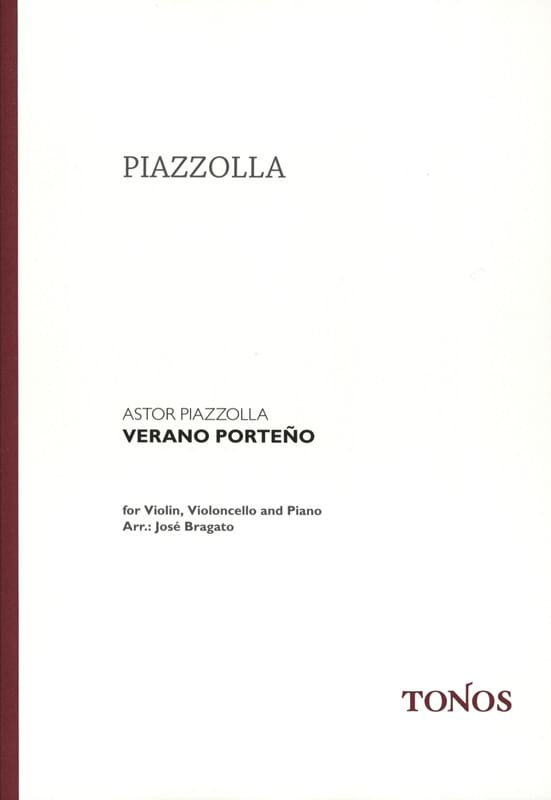 Astor Piazzolla - Verano Porteño - Violin cello piano - Partition - di-arezzo.co.uk
