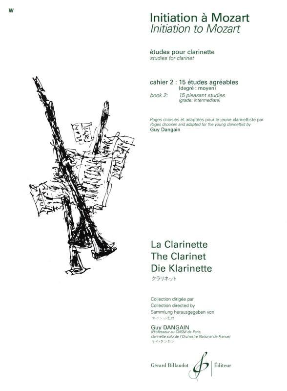 Mozart Wolfgang Amadeus / Dangain Guy - Initiation to Mozart - Book 2 - Partition - di-arezzo.co.uk