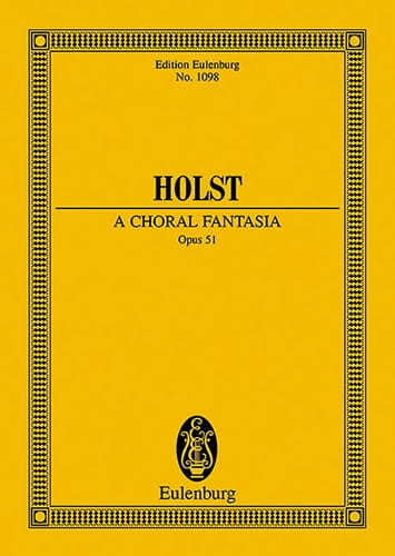 Gustav Holst - A Choral Fantasia - Partition - di-arezzo.co.uk