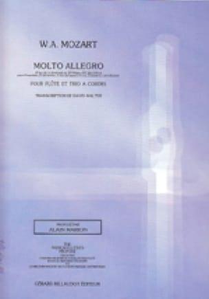Molto Allegro -Flûte et trio à cordes - MOZART - laflutedepan.com