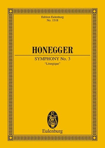 Arthur Honegger - Symphony No. 3 Liturgical - Partition - di-arezzo.com