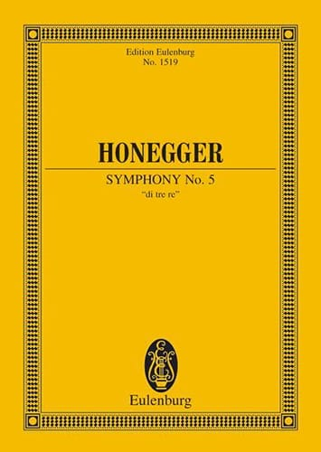 Arthur Honegger - Sinfonie N ° 5 - Partition - di-arezzo.com
