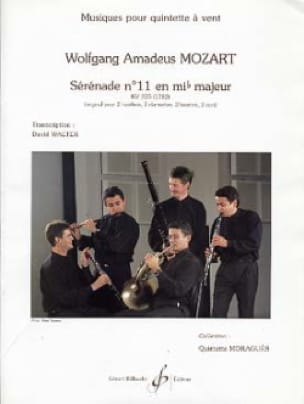 MOZART - Serenade No. 11 in Eb. Kv 375 1782 - Partition - di-arezzo.co.uk
