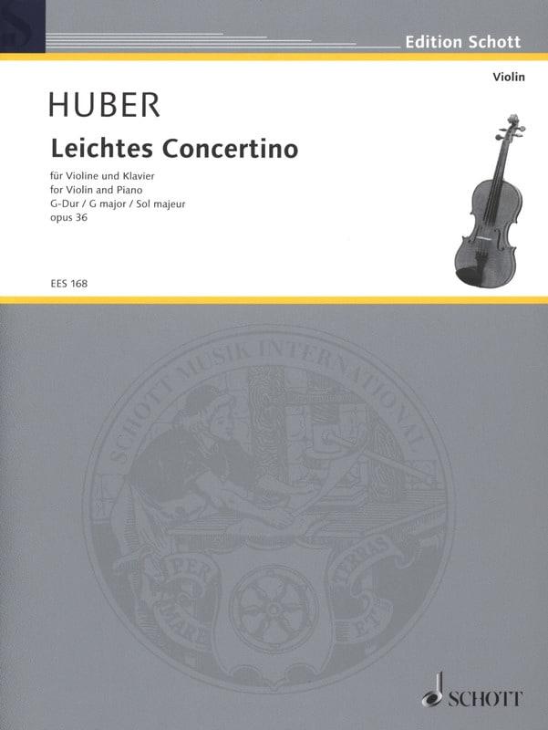 Leichtes Konzertino op. 36, G-dur - Adolf Huber - laflutedepan.com