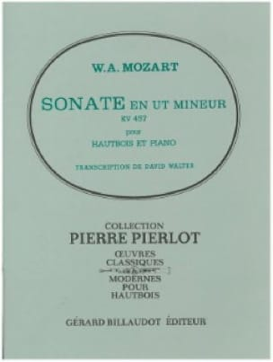 MOZART - Sonata in C minor KV 457 - Oboe - Partition - di-arezzo.com