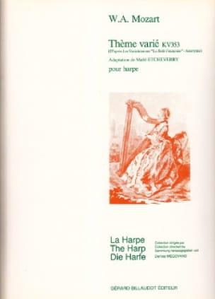 Thème Varié Kv 353 - MOZART - Partition - Harpe - laflutedepan.com
