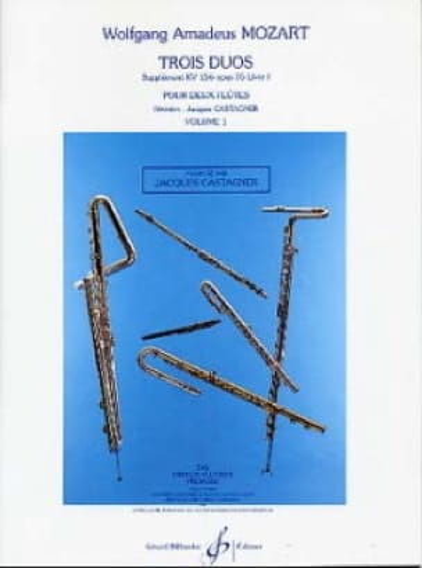 3 Duos supplément KV 156 op. 75 Livre 1 - Volume 1 - laflutedepan.com