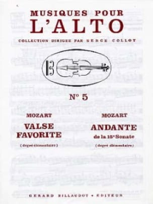 Valse favorite / Andante de la 15e Sonate - MOZART - laflutedepan.com