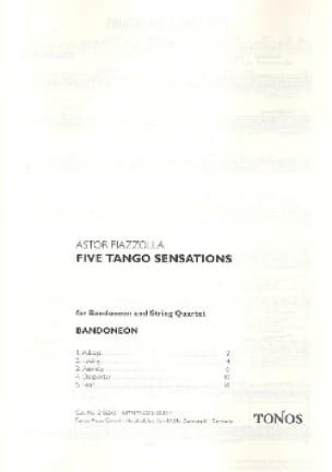 Nuestro Tiempo -Score + Parts - Astor Piazzolla - laflutedepan.com