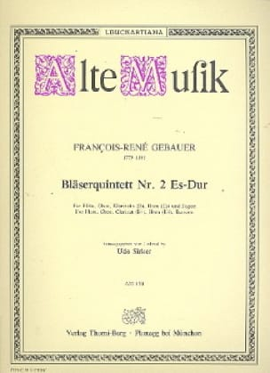 Bläserquintett Nr 2 Es-Dur-Stimmen - laflutedepan.com