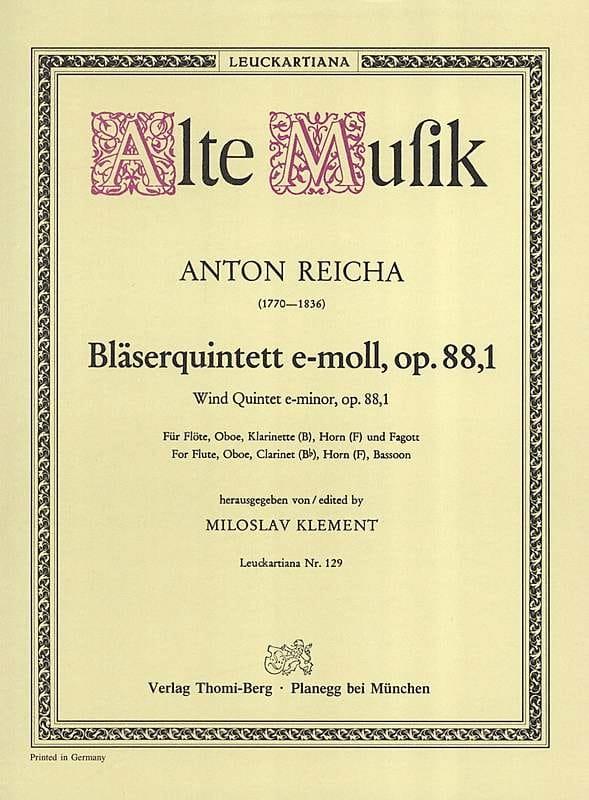 Bläserquintett op. 88 Nr. 1 e-moll -Stimmen - laflutedepan.com