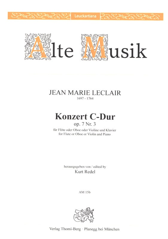 Jean-Marie Leclair - Konzert In C-Dur Op. 7 No. 3 - Partition - di-arezzo.co.uk