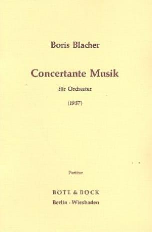 Concertante Musik 1937 - Boris Blacher - Partition - laflutedepan.com