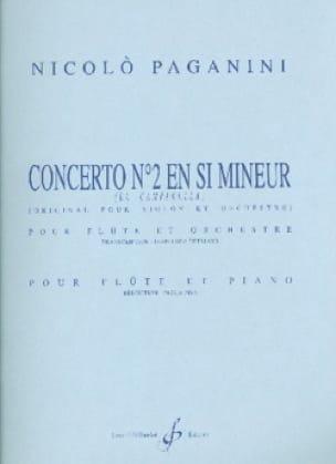 Concerto N° 2 en Si Mineur - PAGANINI - Partition - laflutedepan.com