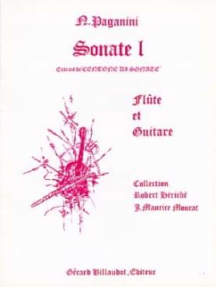 Sonate n° 1 -Flûte guitare - PAGANINI - Partition - laflutedepan.com