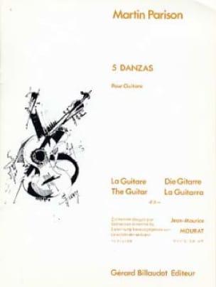 5 Danzas - Martin Parison - Partition - Guitare - laflutedepan.com