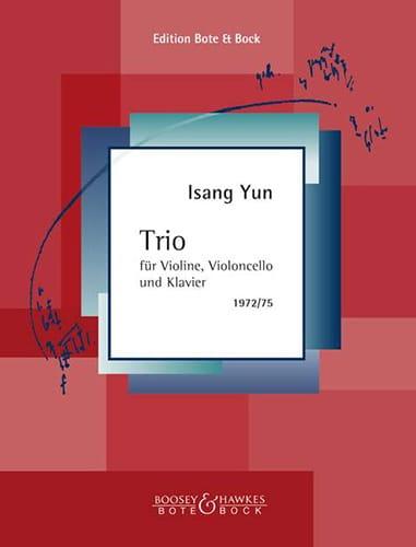 Trio 1972/75 - Isang Yun - Partition - Trios - laflutedepan.com