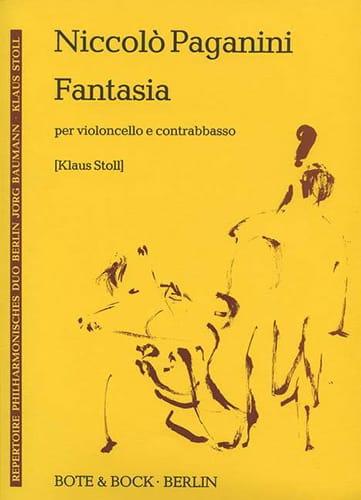 Niccolò Paganini - Fantasia - cello and counterbasso - Partition - di-arezzo.co.uk