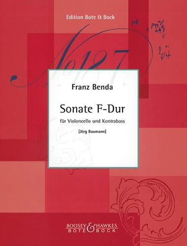 Sonate F-Dur - Franz Benda - Partition - 0 - laflutedepan.com