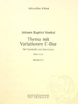 Thema mit Variationen C-Dur - Johann Baptist Vanhal - laflutedepan.com
