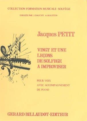 21 Lecons de solfège à improviser - Jacques Petit - laflutedepan.com