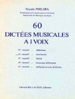 Nicole Philiba - 60 1-Voice Musical Dictations - Volume 2 - Partition - di-arezzo.co.uk