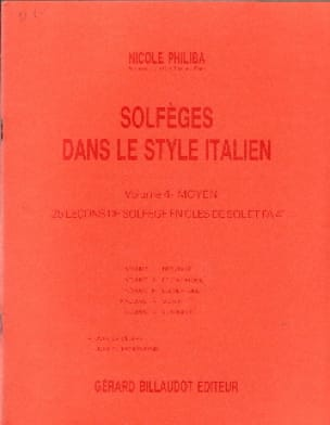 Nicole Philiba - Solfeggio all'italiana - Volume 4 - Studente - Partition - di-arezzo.it