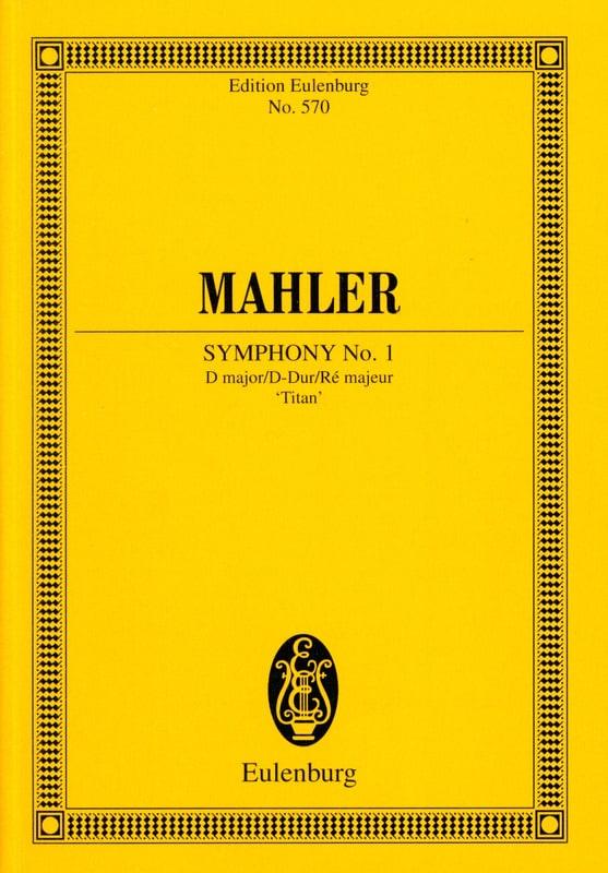 Symphonie N°1 en Ré Majeur Titan - Conducteur - laflutedepan.com