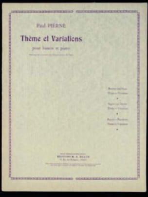 Thème et Variations - Paul Pierné - Partition - laflutedepan.com