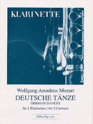 Deutsche Tänze - 2 Klarinetten - MOZART - Partition - laflutedepan.com