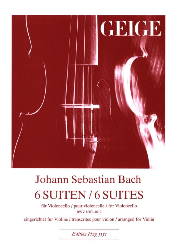 BACH - 6 Suites BWV 1007-1012 - Violin - Partition - di-arezzo.co.uk